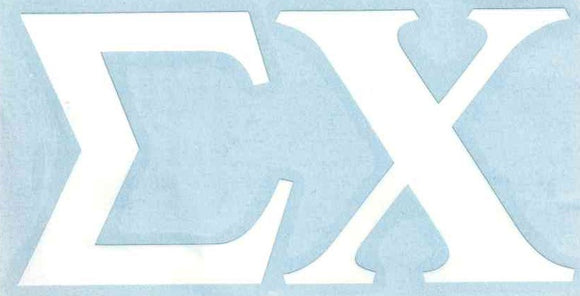 White Car Decal - Sigma Chi