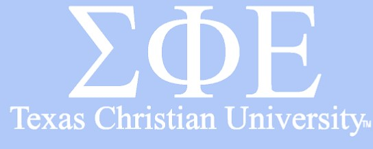 White TCU Car Decal - Sigma Phi Epsilon