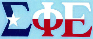 Texas Flag Car Decal - Sigma Phi Epsilon