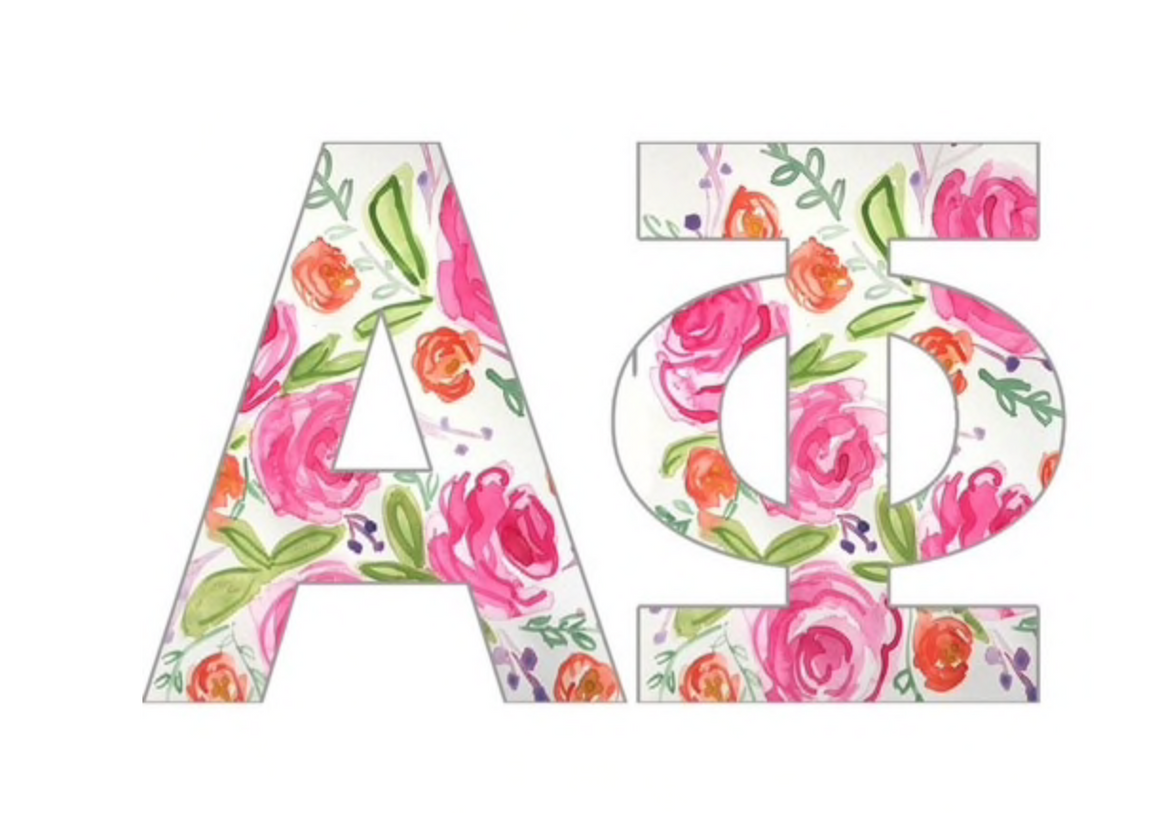 Individual Floral Greek Letters
