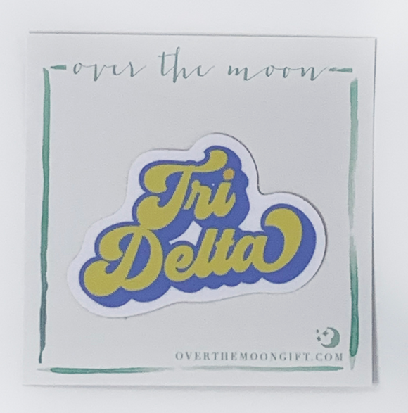 Retro Decal - Delta Delta Delta