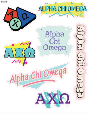 90s Sorority Sticker Sheet