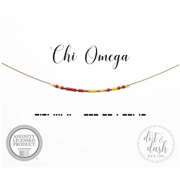 Dot and Dash Necklace - Chi Omega