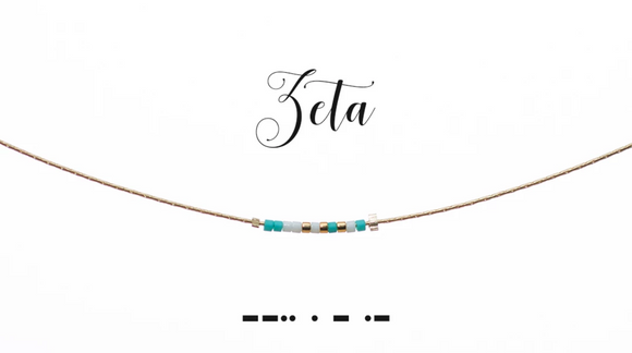 Dot and Dash Necklace - Zeta Tau Alpha