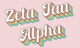 Retro Sorority Flag