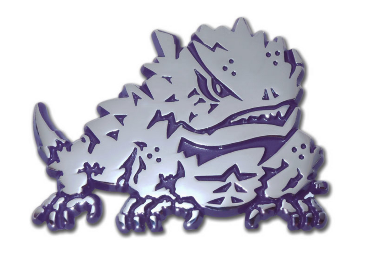Chrome Auto Emblem - TCU Horned Frog