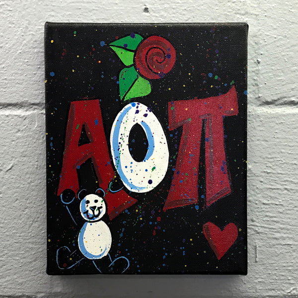 Splatter Canvas - Alpha Omicron Pi