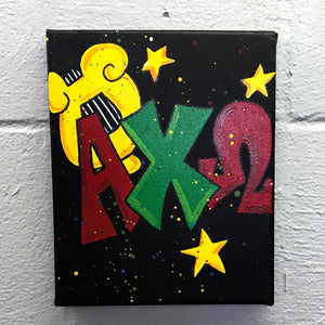 Splatter Canvas - Alpha Chi Omega