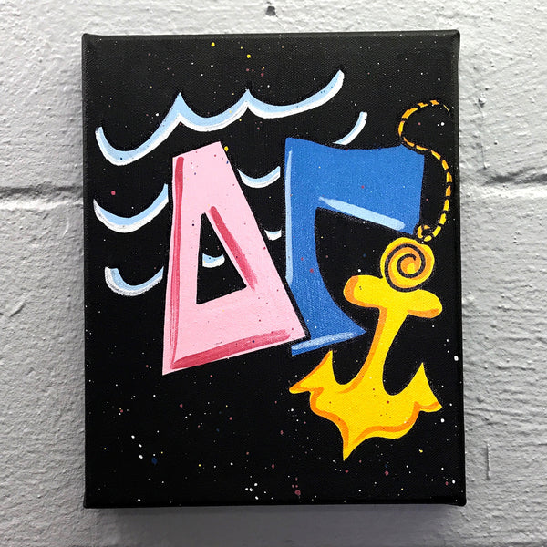 Splatter Canvas - Delta Gamma