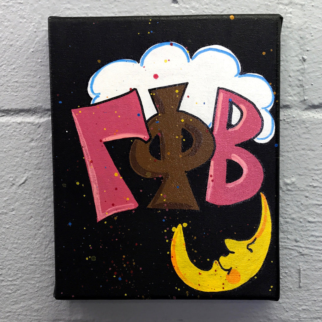 Splatter Canvas - Gamma Phi Beta