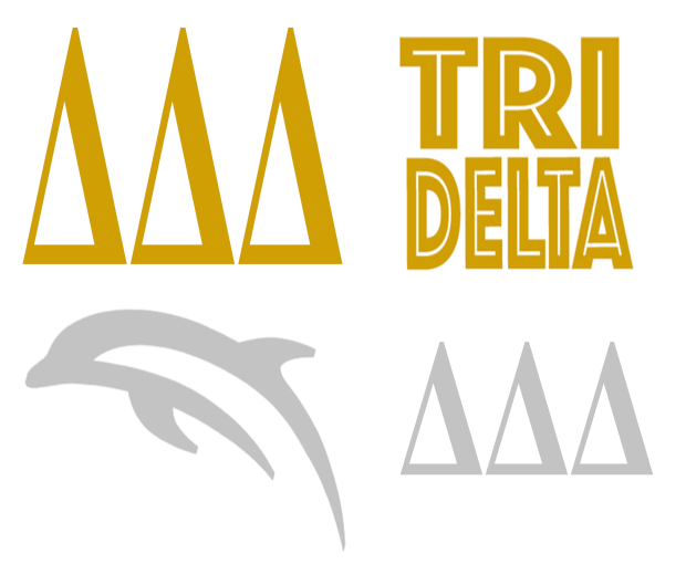 Metallic Sticker Pack - Delta Delta Delta