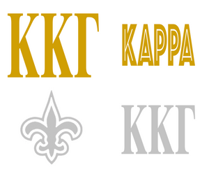 Metallic Sticker Pack - Kappa Kappa Gamma