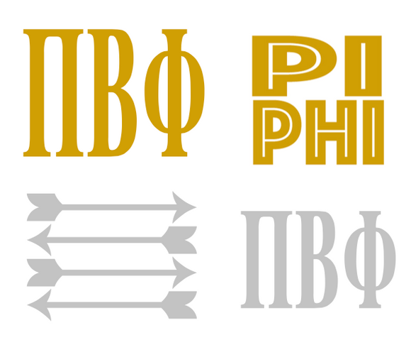 Metallic Sticker Pack - Pi Beta Phi