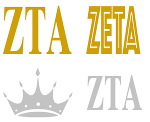 Metallic Sticker Pack - Zeta Tau Alpha