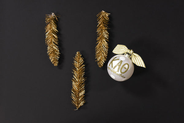 Gold and White Ornament - Kappa Alpha Theta