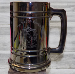 Metallic Coated Glass Stein - Tau Kappa Epsilon