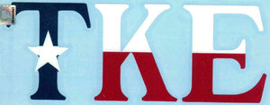 Texas Flag Car Decal - Tau Kappa Epsilon