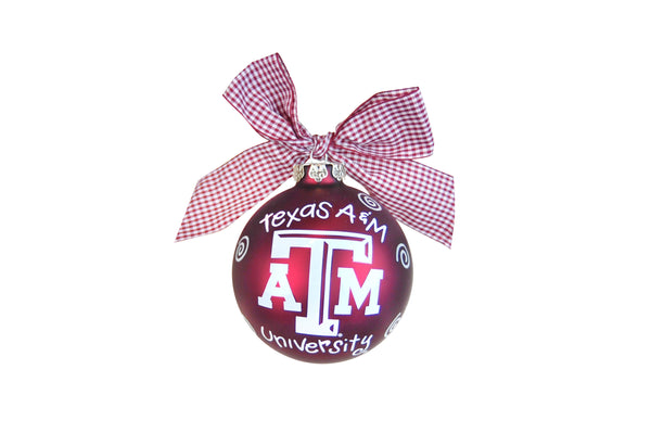 Coton Colors Swirl Ornament - Texas A&M