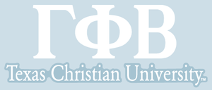 Gamma Phi Beta / Texas Christian University - Car Decal