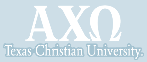 Alpha Chi Omega / Texas Christian University - Car Decal