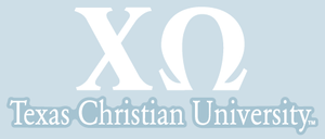 Chi Omega / Texas Christian University - Car Decal