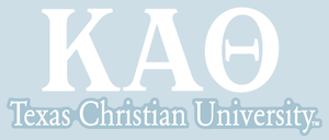 Kappa Alpha Theta / Texas Christian University - Car Decal