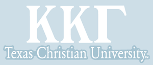 Kappa Kappa Gamma / Texas Christian University - Car Decal