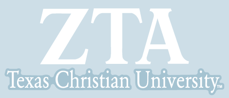 Zeta Tau Alpha / Texas Christian University - Car Decal