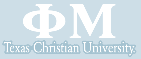 Phi Mu / Texas Christian University - Car Decal