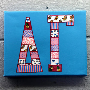 Tribal Painted Canvas - Delta Gamma