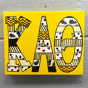 Tribal Painted Canvas - Kappa Alpha Theta