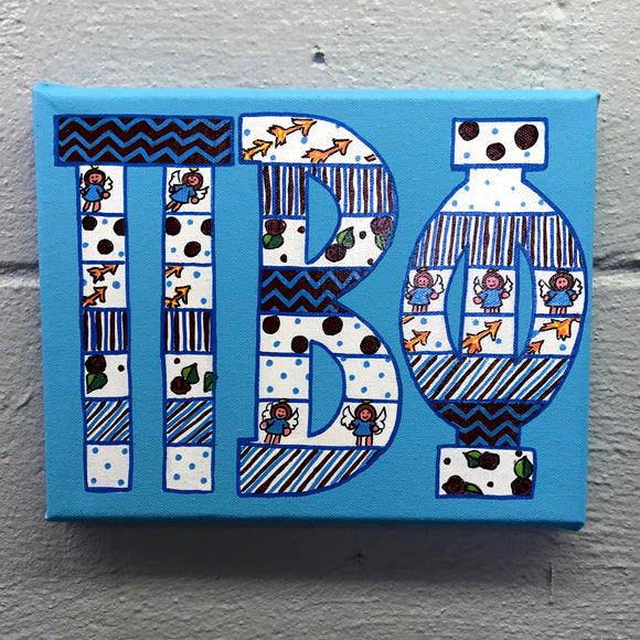 Tribal Painted Canvas - Pi Beta Phi