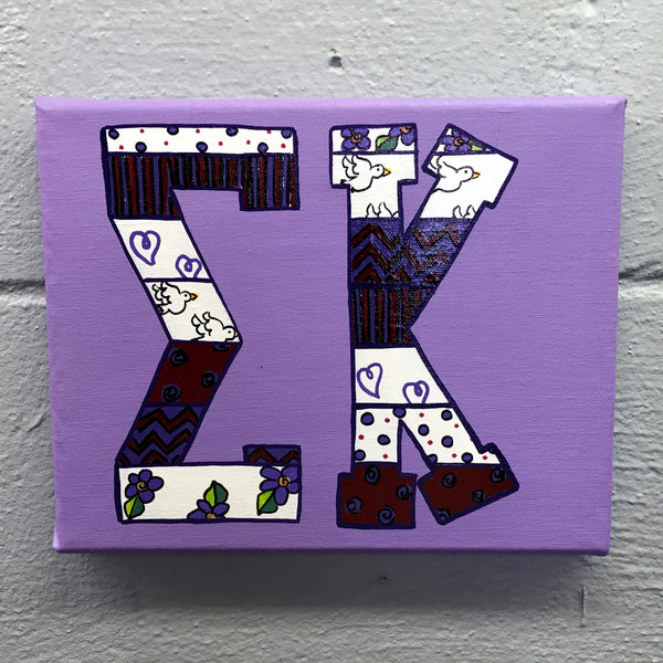 Tribal Painted Canvas - Sigma Kappa
