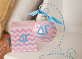 Chevron Sorority Ornament - Delta Gamma
