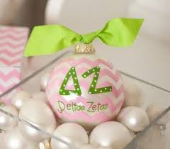 Chevron Sorority Ornament - Delta Zeta