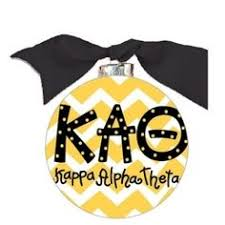 Chevron Sorority Ornament - Kappa Alpha Theta
