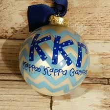 Chevron Sorority Ornament - Kappa Kappa Gamma