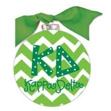 Chevron Sorority Ornament - Kappa Delta