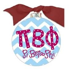 Chevron Sorority Ornament - Pi Beta Phi