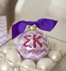 Chevron Sorority Ornament - Sigma Kappa