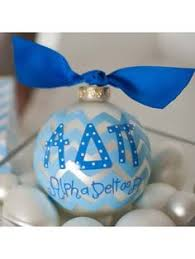 Chevron Sorority Ornament - Alpha Delta Pi