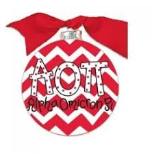 Chevron Sorority Ornament - Alpha Omicron Pi