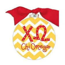 Chevron Sorority Ornament - Chi Omega