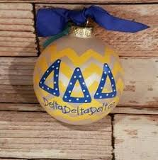 Chevron Sorority Ornament - Delta Delta Delta