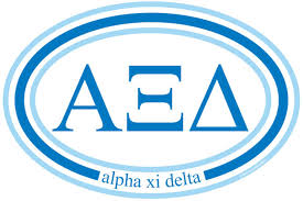 Oval Decal - Alpha Xi Delta