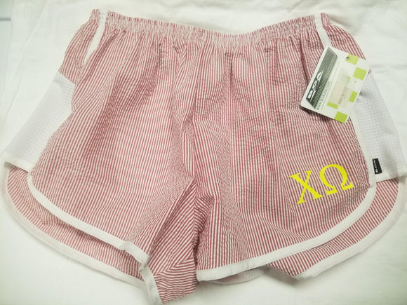 Striped Seersucker shorts - Chi Omega