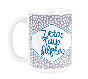 Small Dot Mug - Zeta Tau Alpha