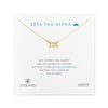 Dogeared Gold Letter Necklace - Zeta Tau Alpha