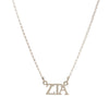 Dogeared Silver Letter Necklace - Zeta Tau Alpha