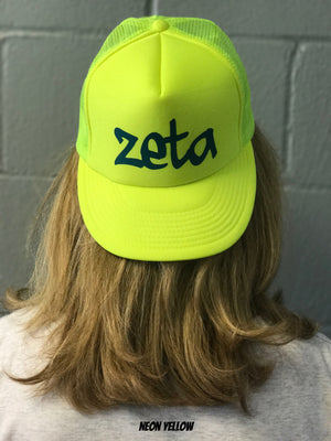 Highlighter Baseball Hats - Zeta Tau Alpha
